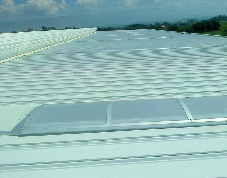 Iluminação natural telhado