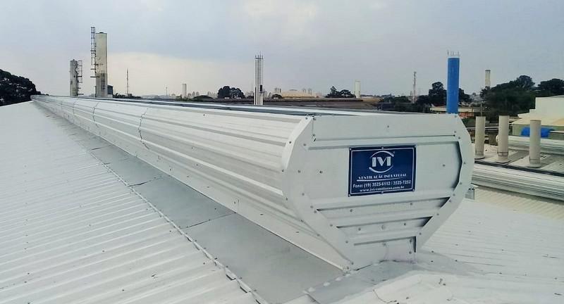 Sistema de ventilação industrial