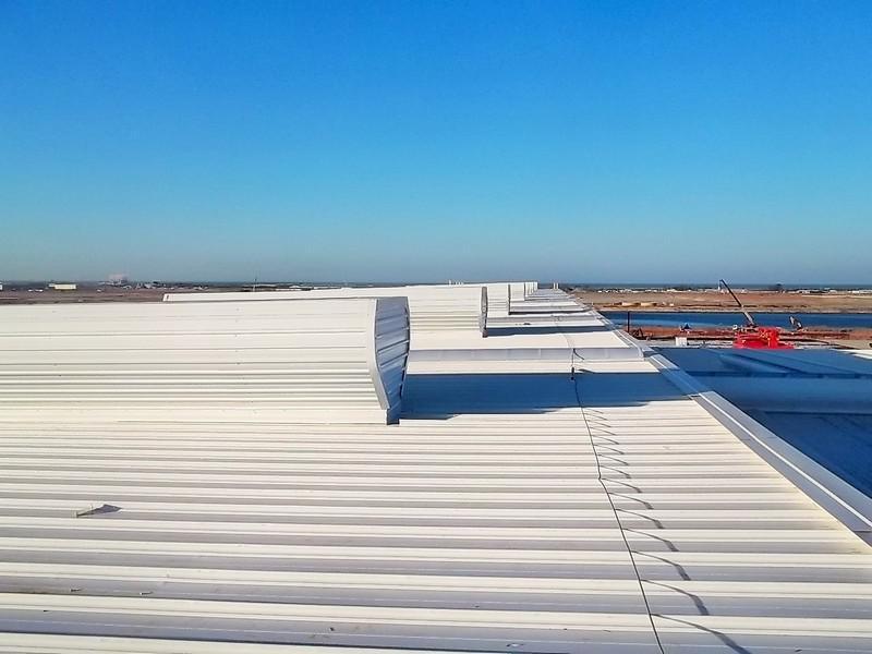 Sistema de ventilação industrial natural