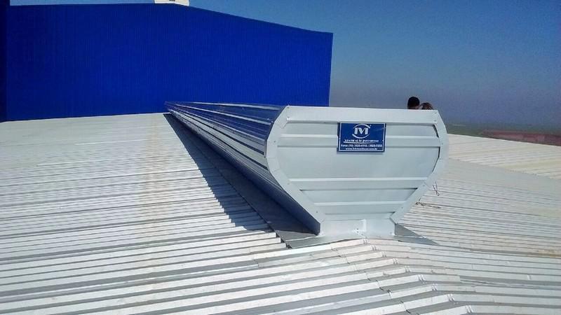Sistema de ventilação natural para galpão